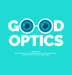 Modern logo good optics vector