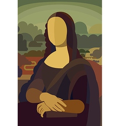 Mona lisa in flat style vector