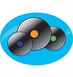 music disc vector image vector image