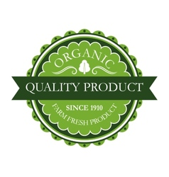 Organic label for farm fresh products vector image vector image