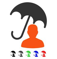 Patient care umbrella flat icon vector
