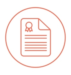 Real estate contract line icon vector