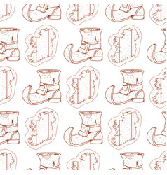 Seamless pattern with contour map and ireland vector