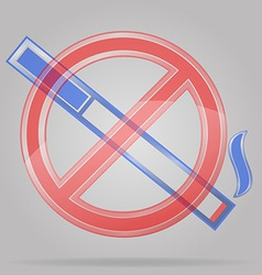 transparent sign no smoking vector image vector image