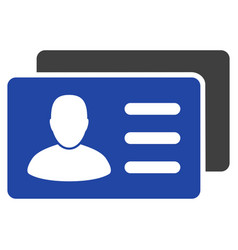 User account cards flat icon vector
