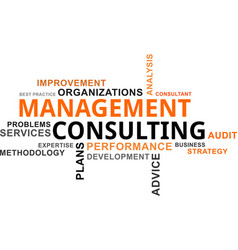 word cloud - management consulting vector image