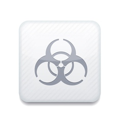 White radiation icon eps10 easy to edit vector