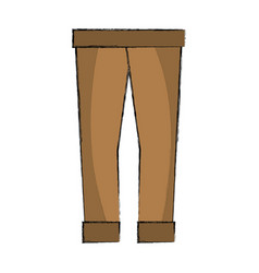 Fashion man pants cloth style vector