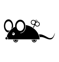 April fools day mouse surprise pictogram vector