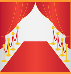 Red carpet ceremonial vector