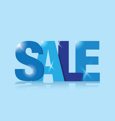 Blue sale sign vector