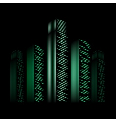 city neon vector image
