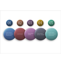 buttons options infographics design vector image