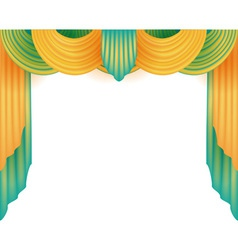 Curtain with a white background behind vector