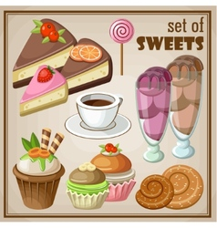 Set of sweets vector