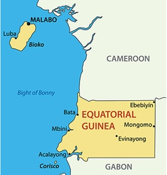 Republic of equatorial guinea - map vector