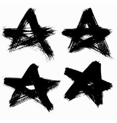Grunge Stars Set vector image