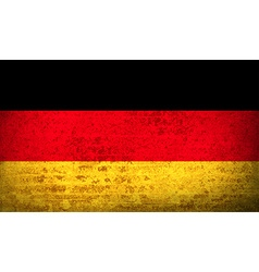 Flags germany with dirty paper texture vector