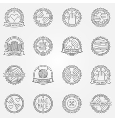 Hand made linear labels vector