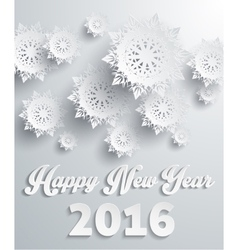 Happy new year 2016 snowflakes background vector