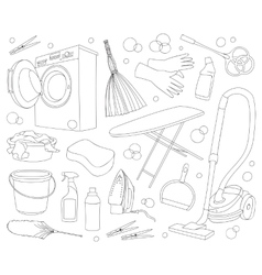 Doodle set of cleanup vector