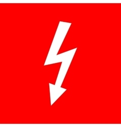 High voltage danger sign vector