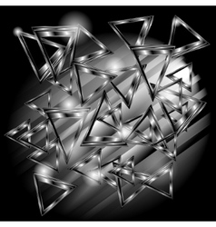 abstract background with metal triangles vector image