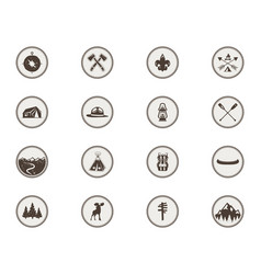 boy scouts icons patches the full bundle vector image