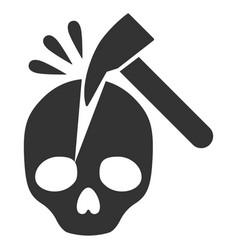 Break skull flat icon vector