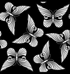 butterflies pattern vector image vector image