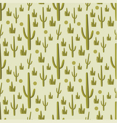 Cactus green seamless pattern vector