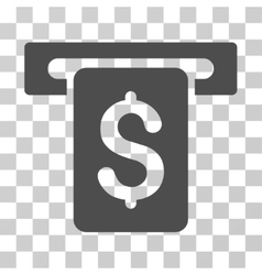 Cash withdraw icon vector