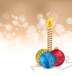 Christmas balls and candle vector
