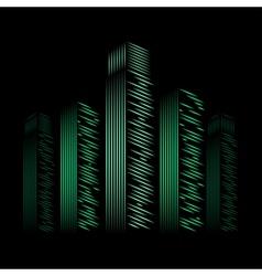 City neon vector