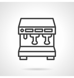 Coffee brewing machine simple line icon vector