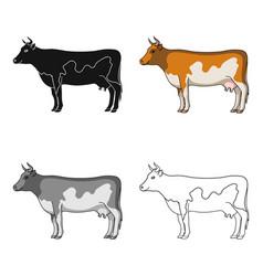 cowanimals single icon in cartoon style vector image