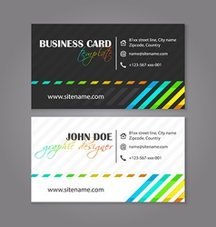 Creative simple horizontal business card for vector image vector image