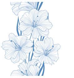 floral seamless background flower pattern border vector image