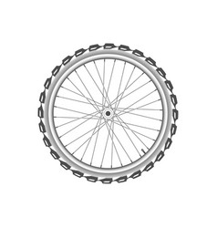 Front monochrome wheel of bike vector