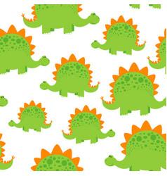 green dinosaur pattern vector image vector image