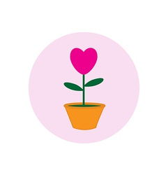heart pot symbol vector image