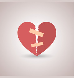 Icon broken heart vector