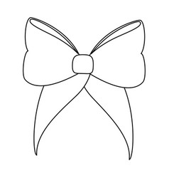 isolated cute ribbon vector image