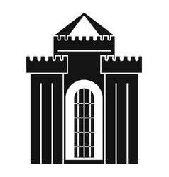 Medieval palace icon simple style vector