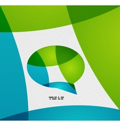 Modern paper design chat concept vector image vector image
