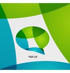 Modern paper design chat concept vector image