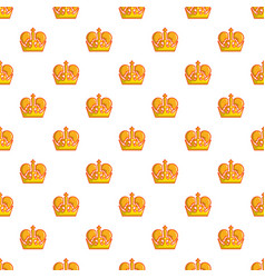 monarch crown pattern seamless vector image vector image