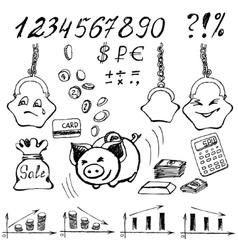 Money doodle vector