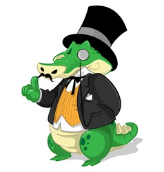 Mr Gator Cartoon vector image