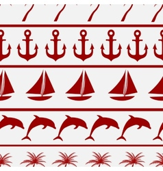 Sea seamless pattern background ilustration vector